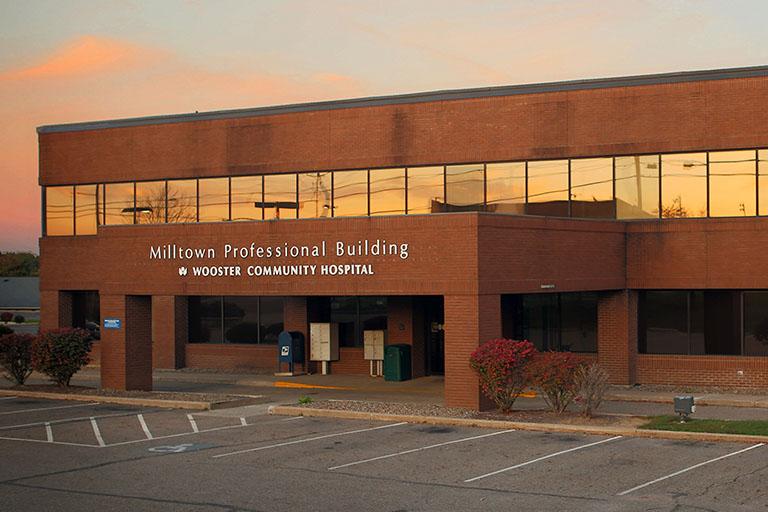 Main Entrance of Millersburg brick building